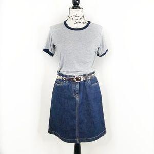 BODEN ▪ Midi Jean Skirt, medium wash,  NWT